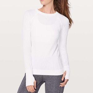 Lululemon | rest less pullover thumb hole tee 504